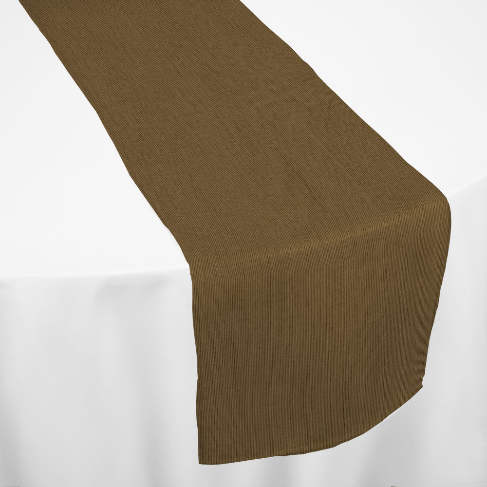 Burnished Gold Bengaline Moire Table Runner