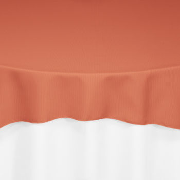 Burnt Orange Classic Linen Overlay