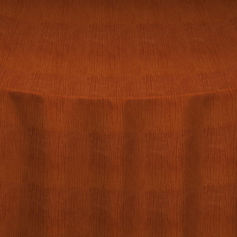 Burnt Orange Crinkle Taffeta Table Linen