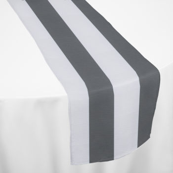 Charcoal Cabana Table Runner