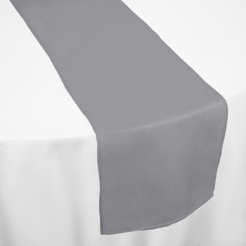 Charcoal Classic Linen Table Runner