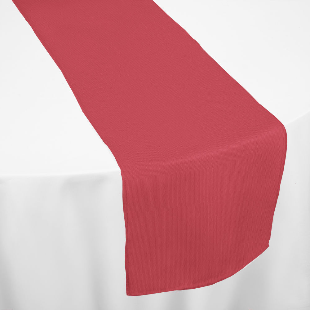 Cherry Red Classic Linen Table Runner