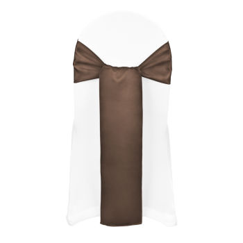Chocolate Classic Satin Sash