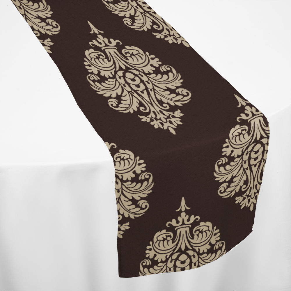 Chocolate Oxford Table Runner