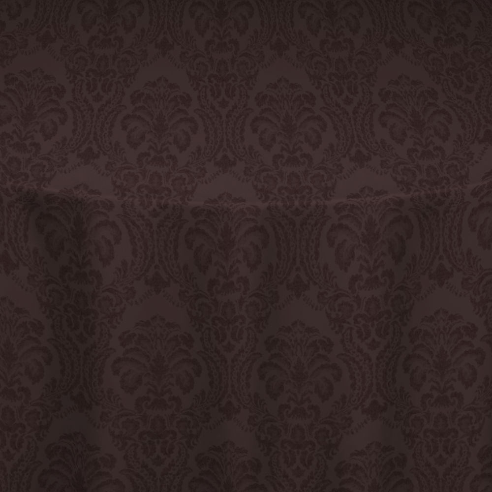 Chocolate Wellington Damask Table Linen