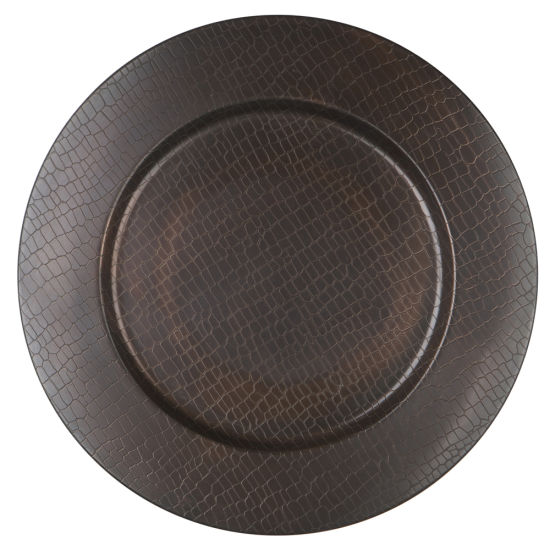 Copper Crocodile Metal Charger Plate By Chair Covers Amp Linens