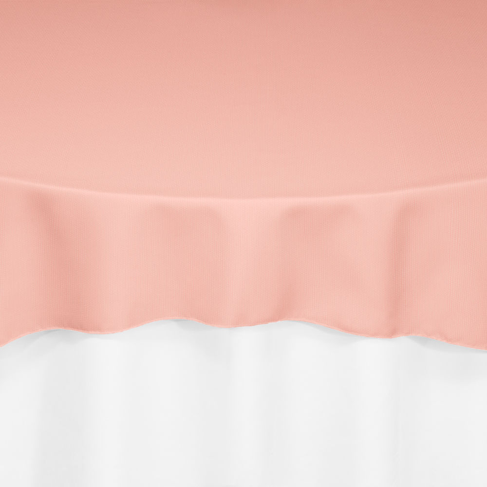 Coral Classic Linen Overlay