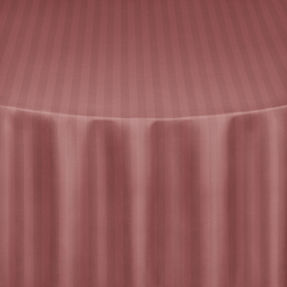 Dusty Rose Satin Stripe Table Linen