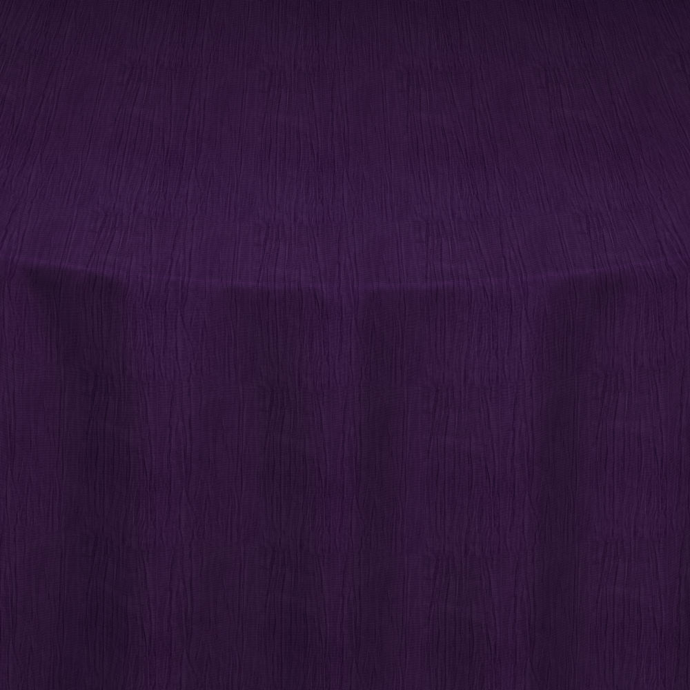 Eggplant Crinkle Taffeta Table Linen by Chair Covers & Linens