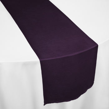 Eggplant Faux Dupioni Table Runner