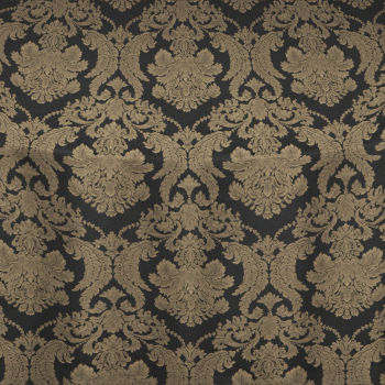 Gold Black Magnifico Damask Table Linen
