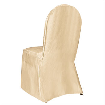 Gold Classic Satin Chair Cover