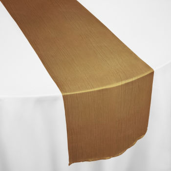 Gold Crinkle Taffeta Table Runner