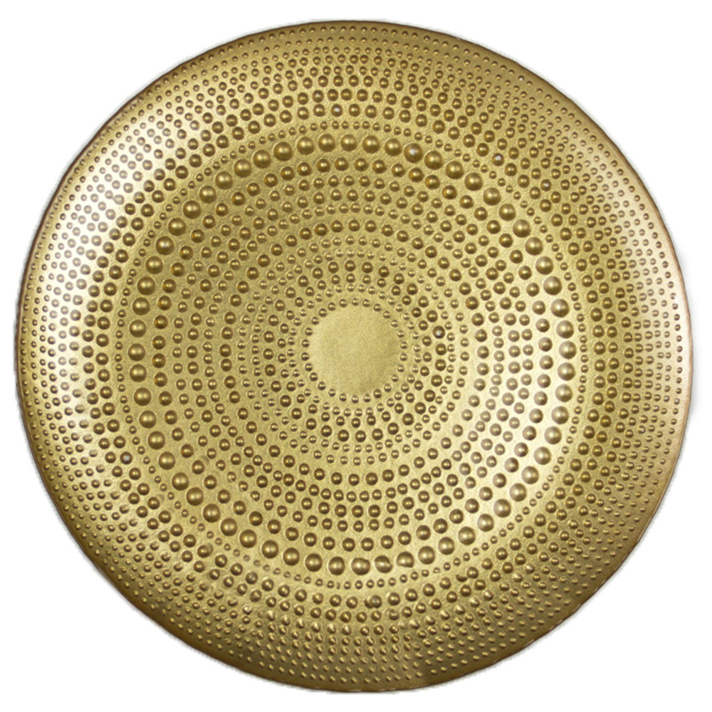 Gold Dimple Charger Plate