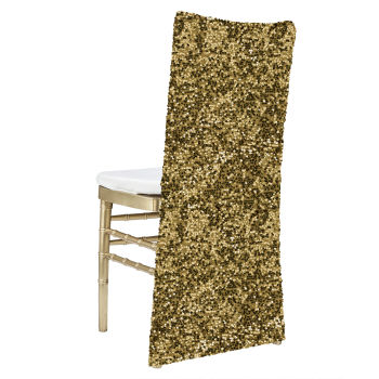 Gold Hollywood Sequin Chair Cover