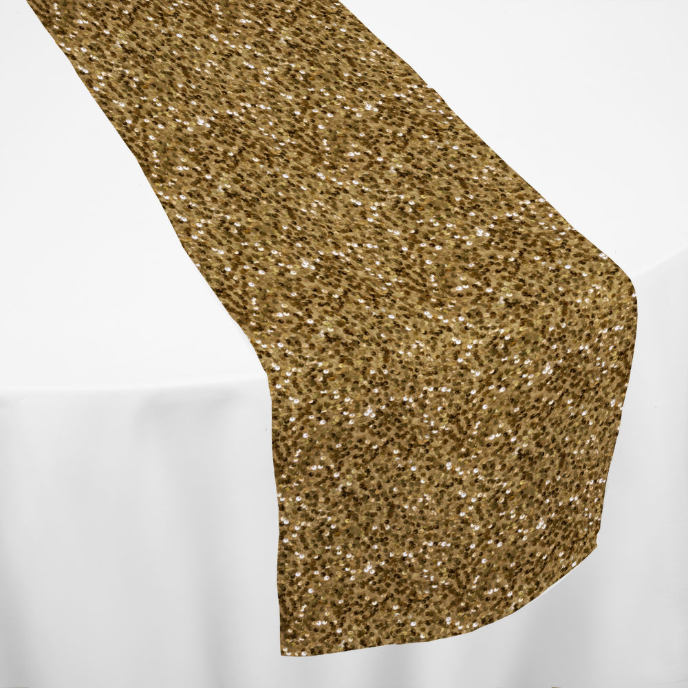 Gold Hollywood Sequin Table Runner