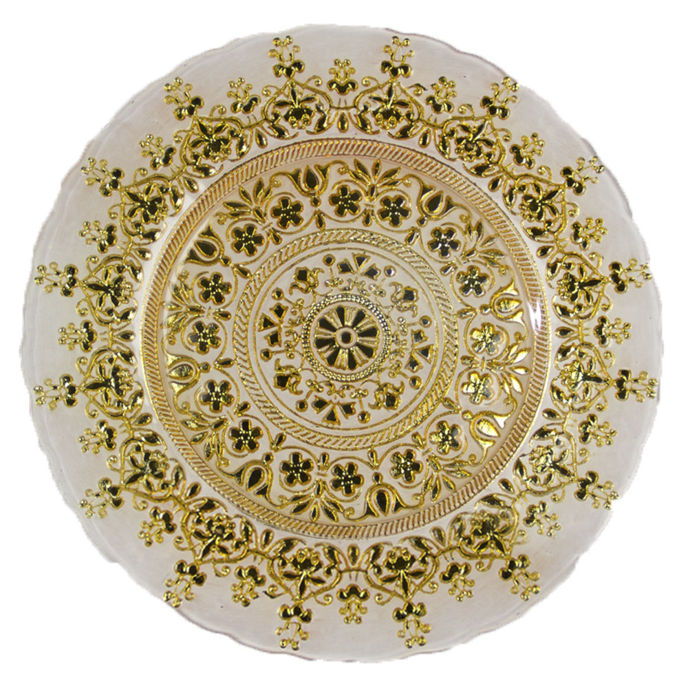 Gold Indian Charger Plate
