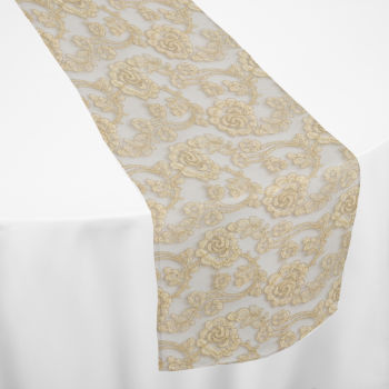 Gold Leto Lace Table Runner