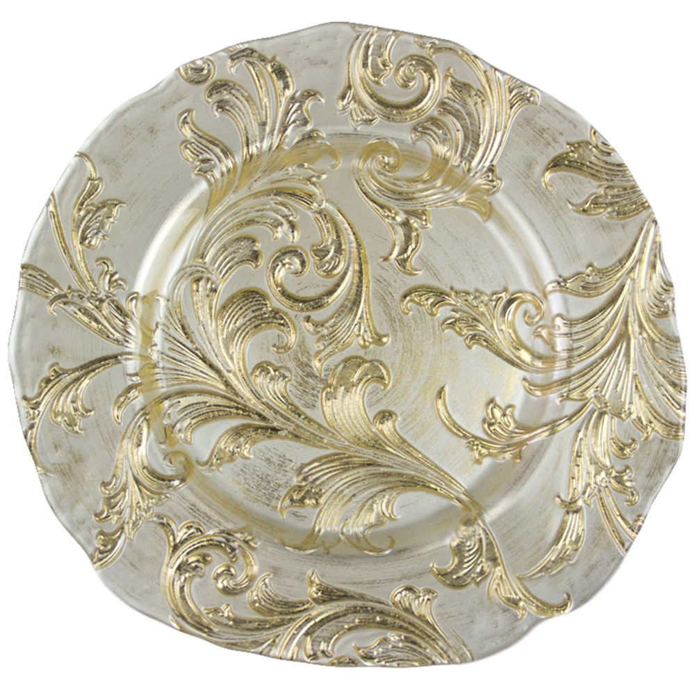 Gold Parisian Charger Plate