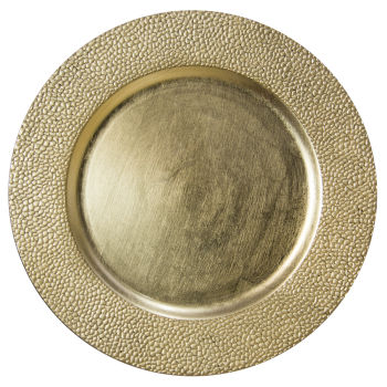 Gold Pebble Charger Plate
