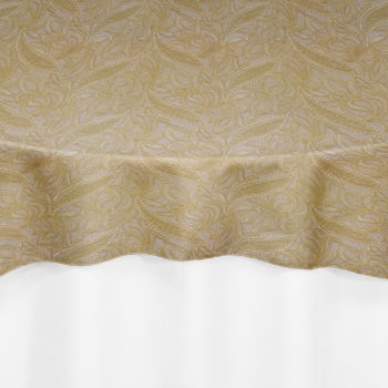 Gold Polynesian Lace Overlay