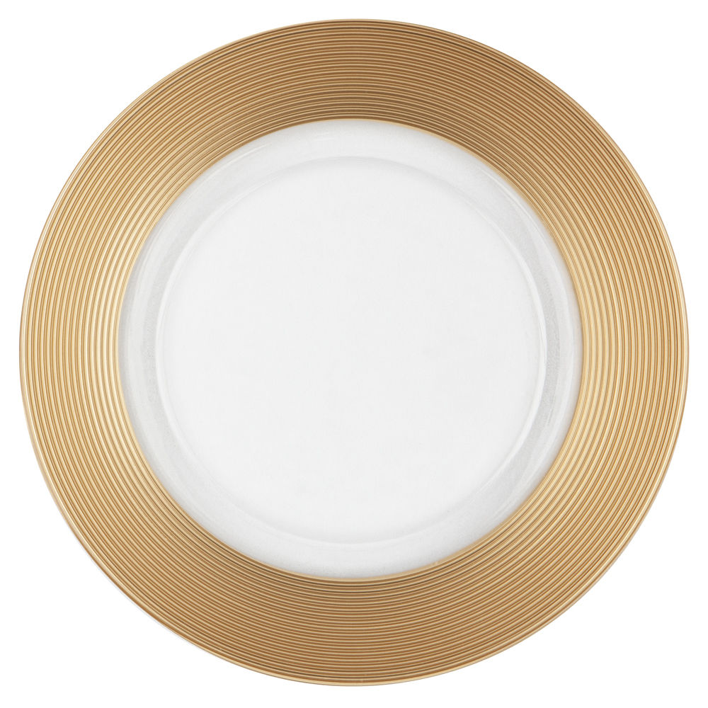 Gold Thick Rim Charger Plate