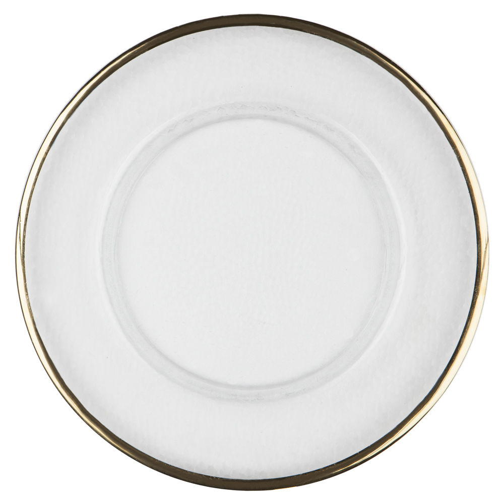 Gold Thin Rim Charger Plate