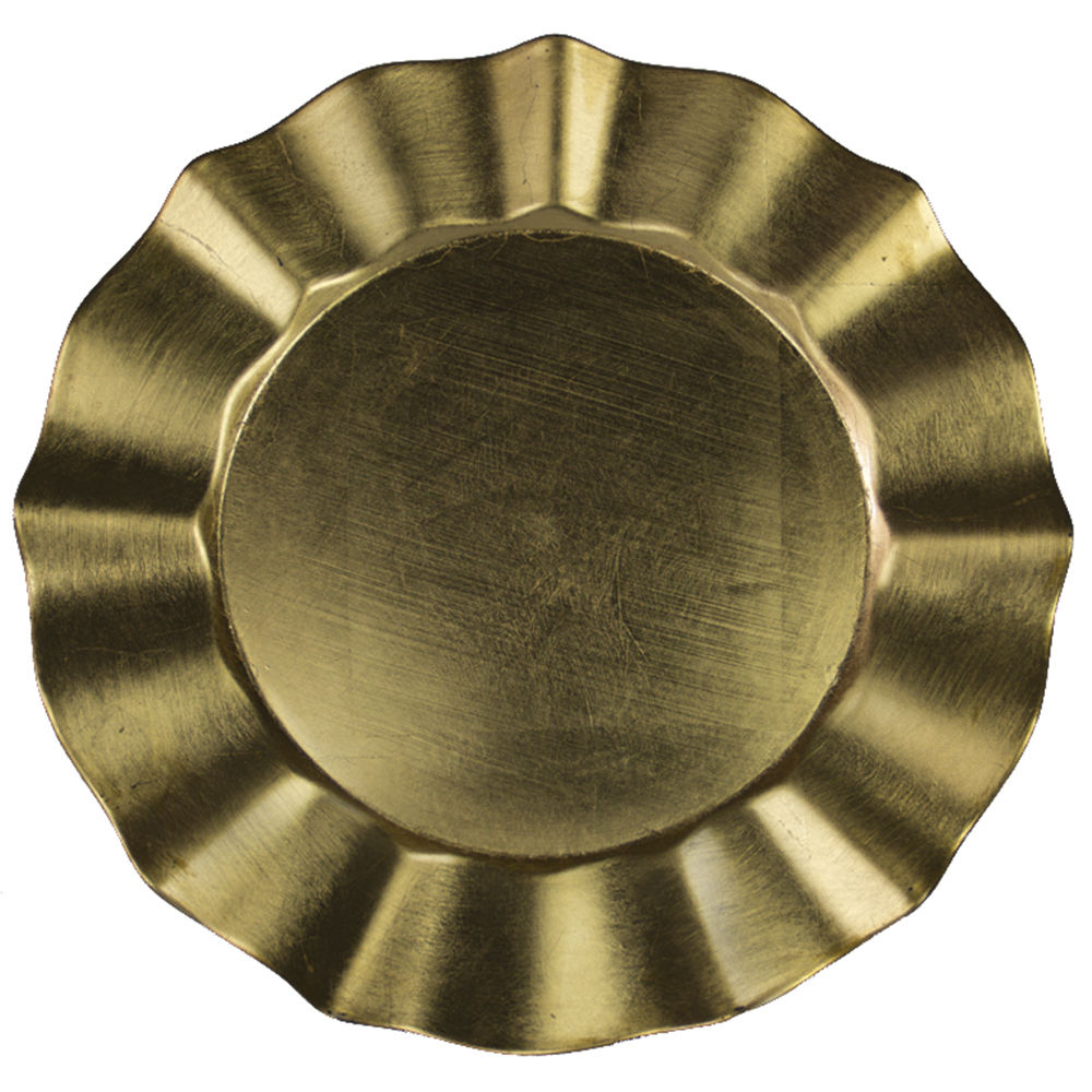 Gold Waves Charger Plate