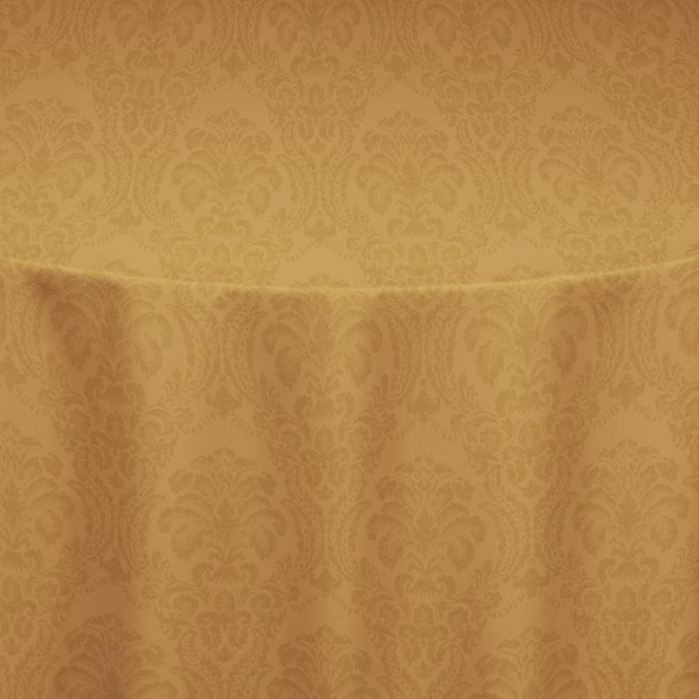 Gold Wellington Damask Table Linen