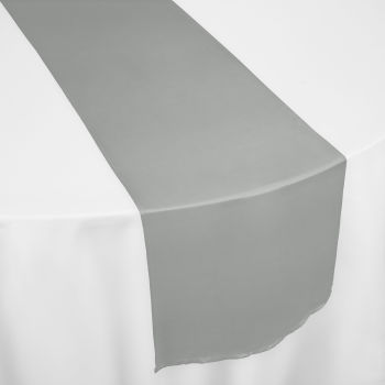 Grey Chiffon Table Runner