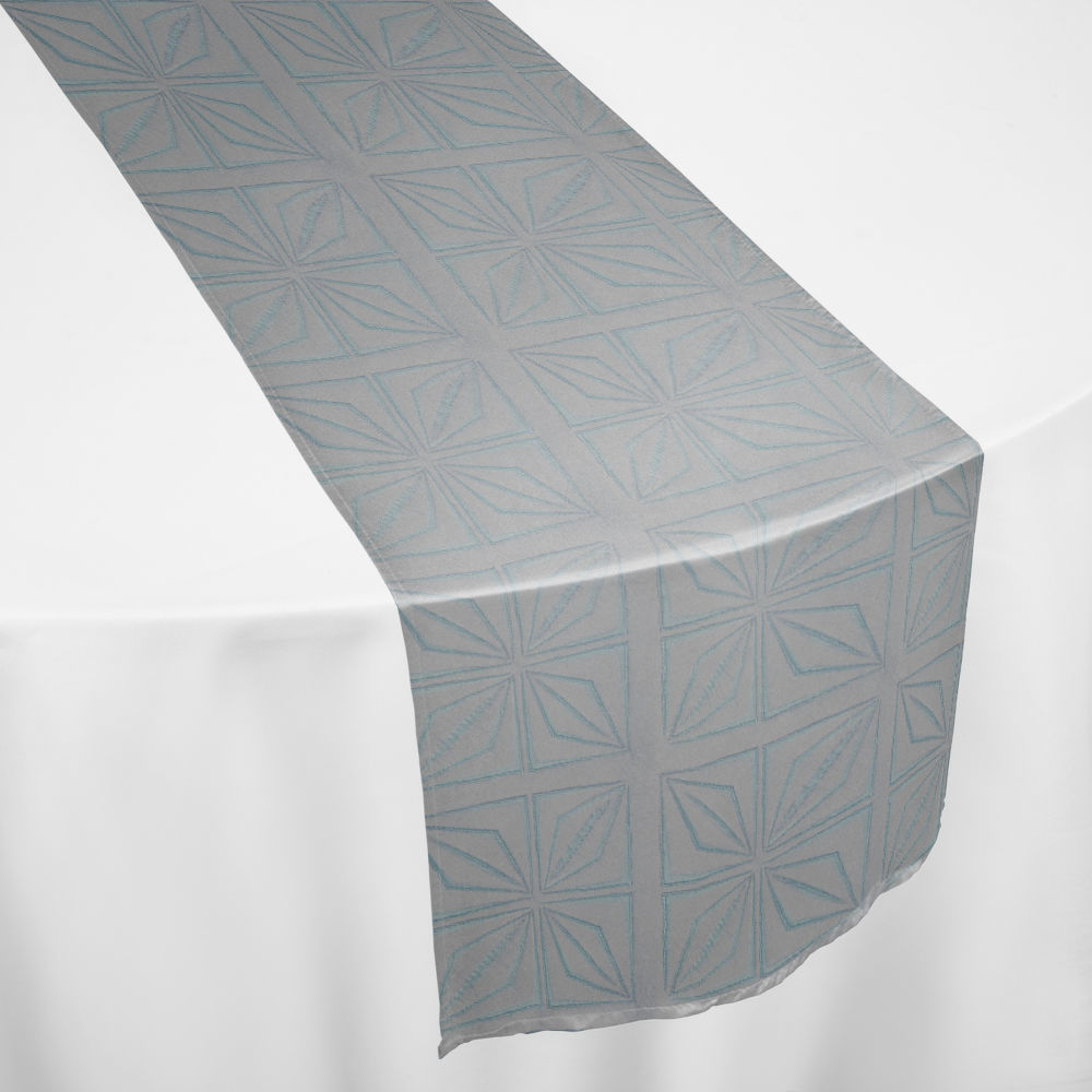 Ice Blue Deco Table Runner
