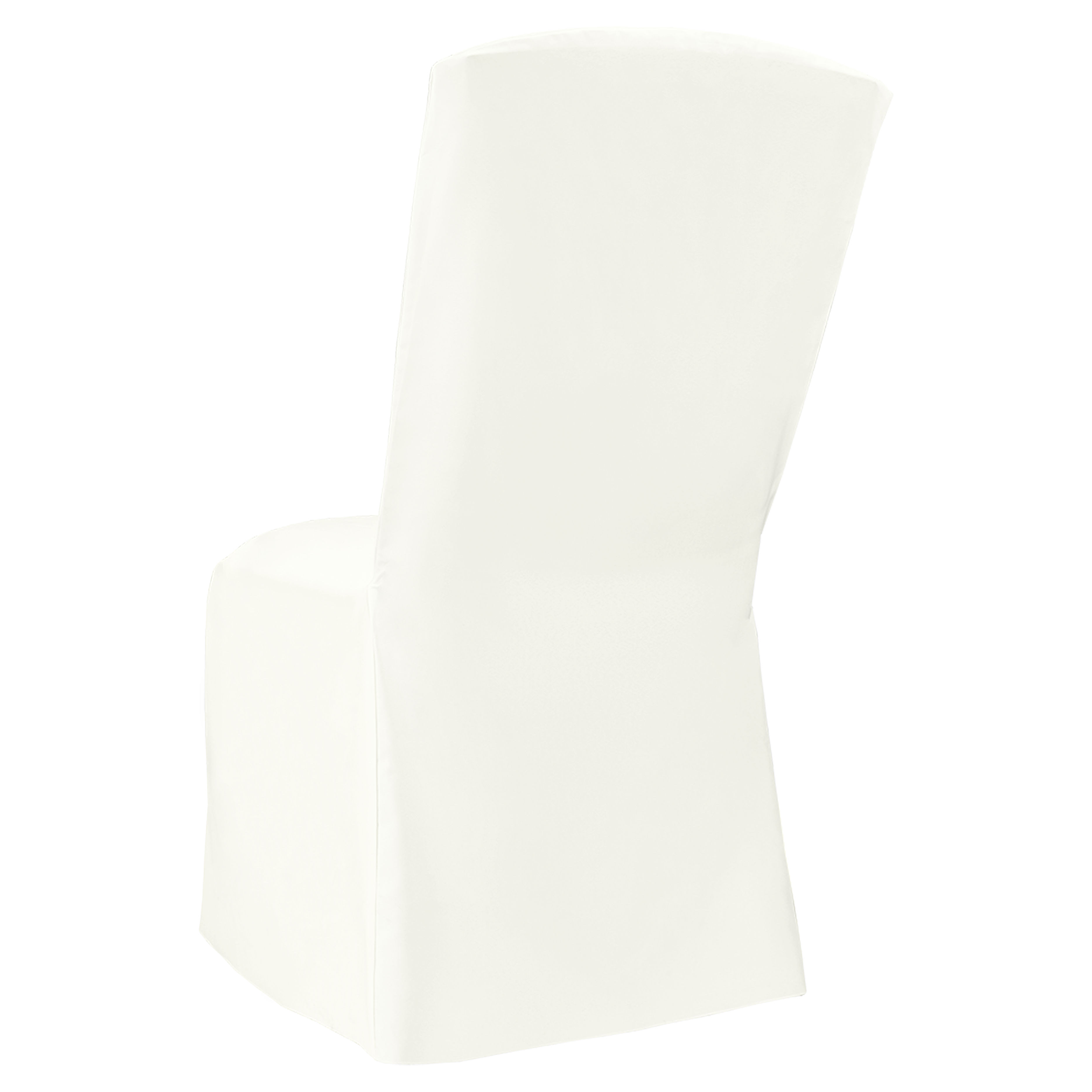 Ivory Classic Linen Banquet Square Chair Cover By Chair