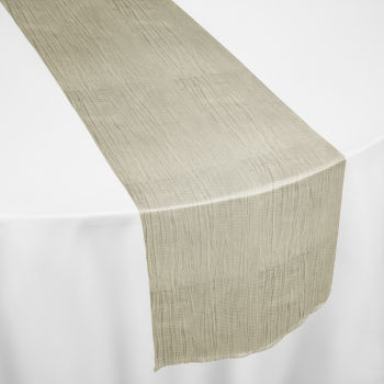 Ivory Crinkle Taffeta Table Runner