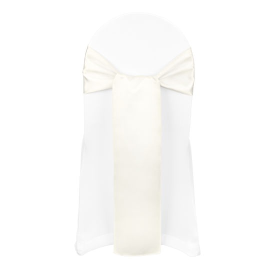 Ivory Duchess Satin Banquet Chair Cover By Chair Covers