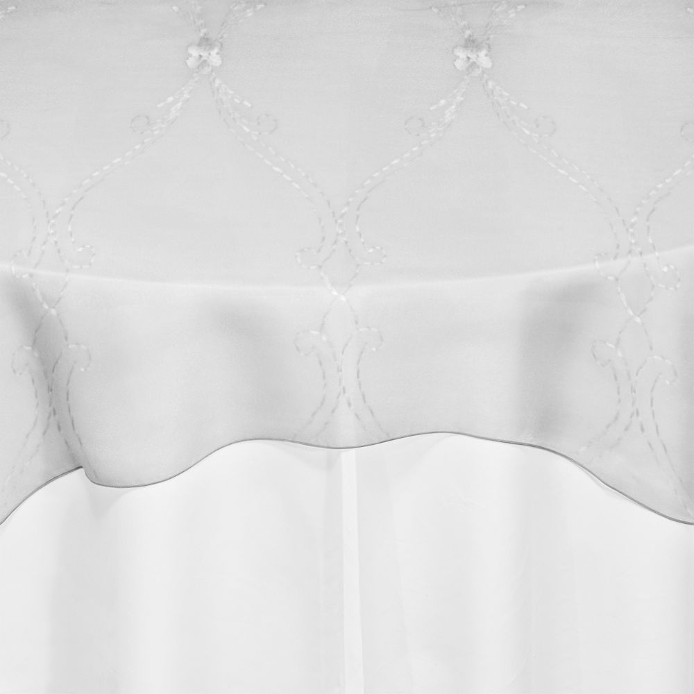Ivory Embroidered Voile Overlay
