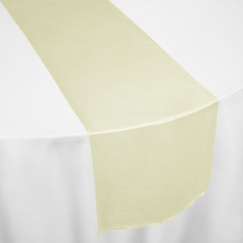 Ivory Faux Dupioni Table Runner