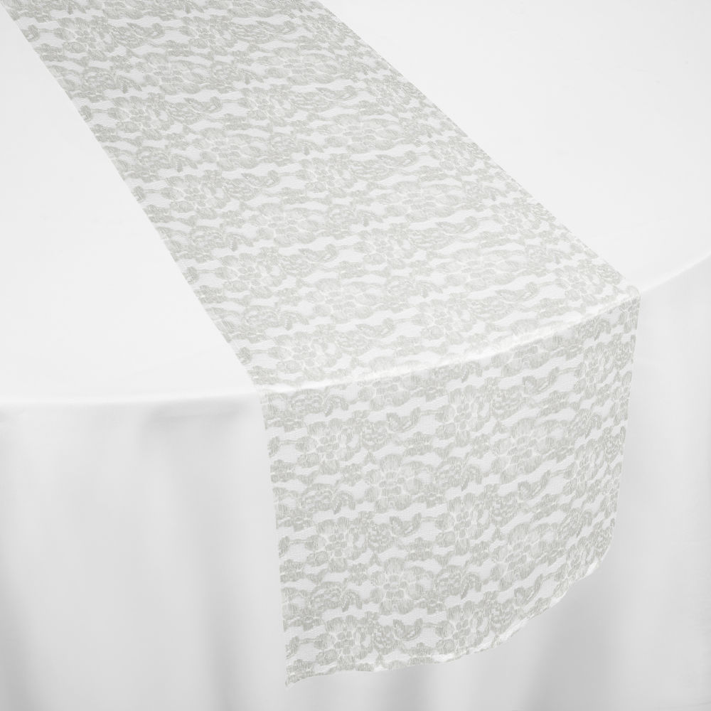 Ivory French Lace Table Runner