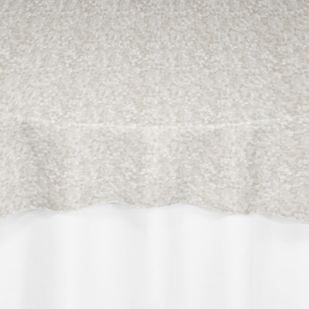Ivory Hollywood Sequin Overlay