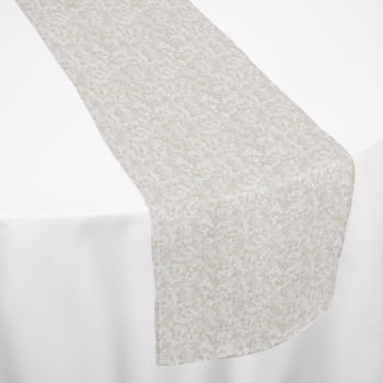 Ivory Hollywood Sequin Table Runner