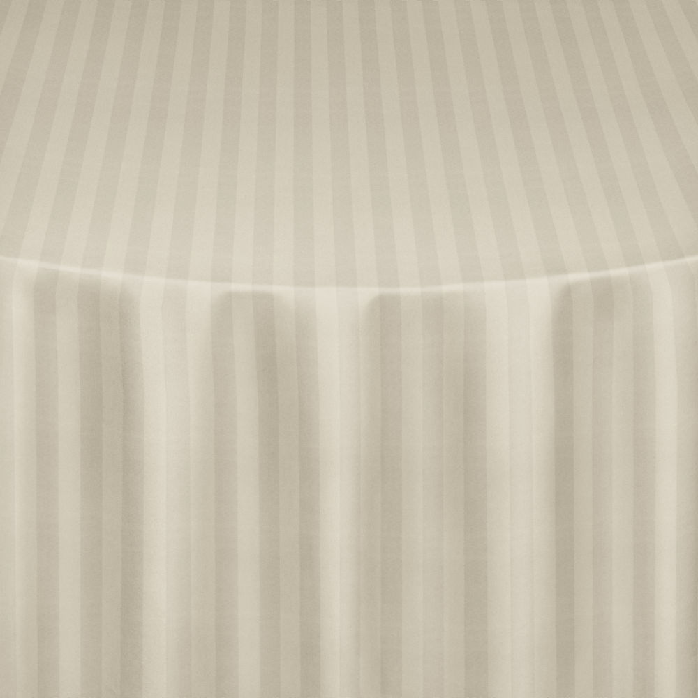 Ivory Satin Stripe Table Linen