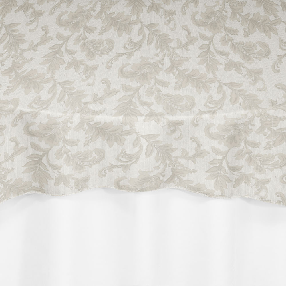 Ivory Scarborough Lace Overlay