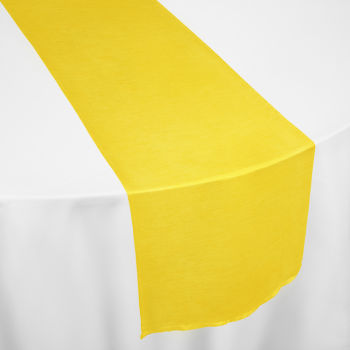Lemon Faux Dupioni Table Runner