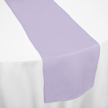 Lilac Classic Linen Table Runner