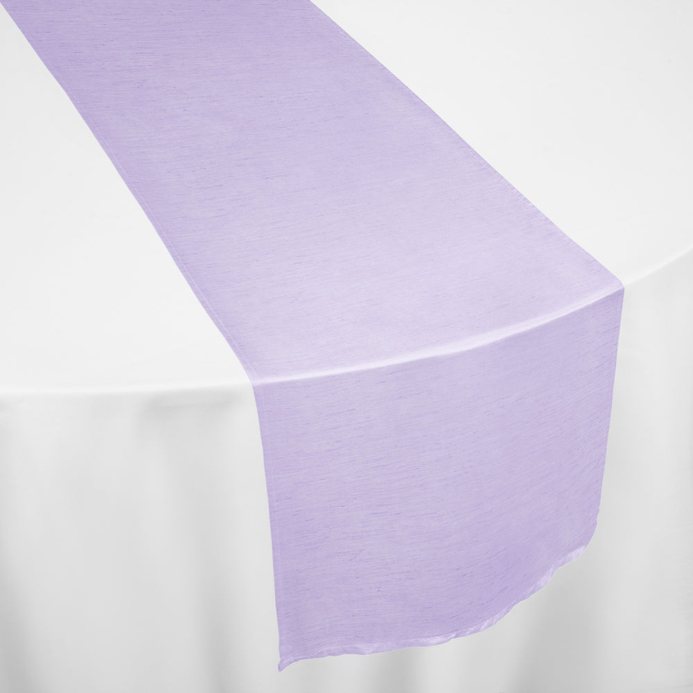 Lilac Faux Dupioni Table Runner