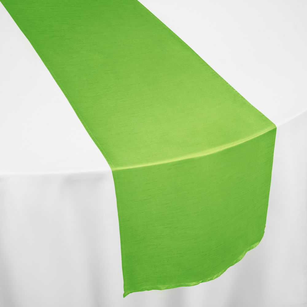 Lime Faux Dupioni Table Runner