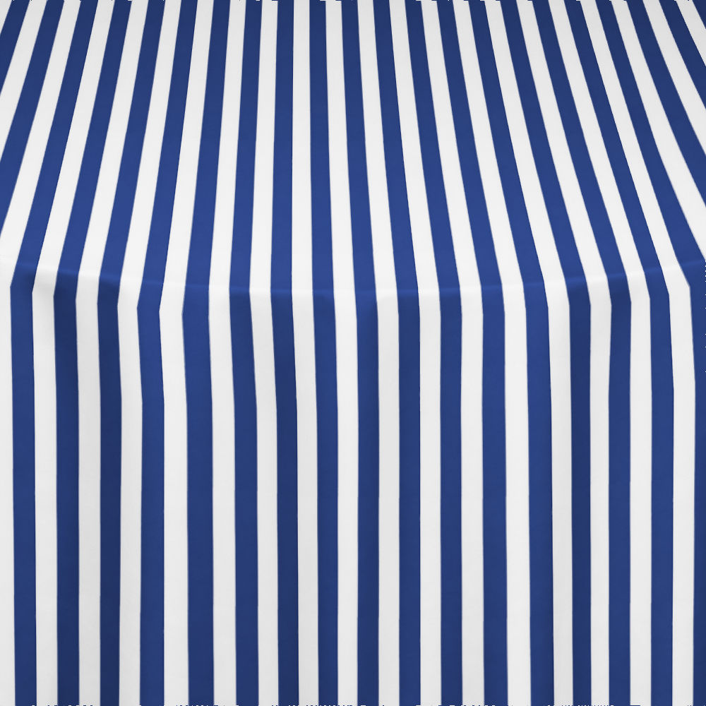 Navy Printed Stripe Table Linen