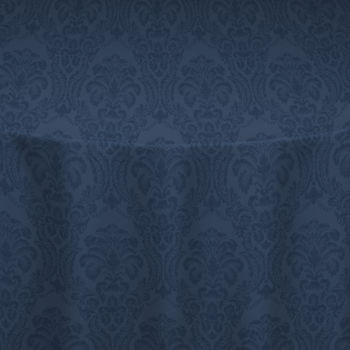 Navy Wellington Damask Table Linen