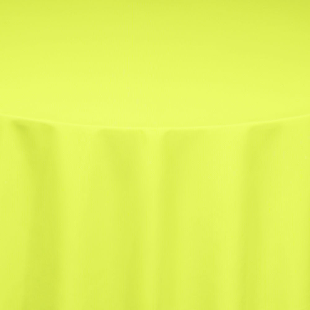 Neon Yellow Bright Classic Linen Table Linen