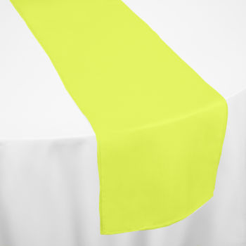 ... Neon Yellow Bright Classic Linen Table Runner