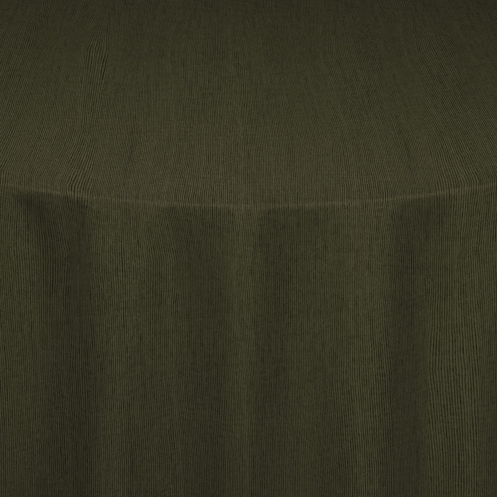 Olive Drab Bengaline Moire Table Linen